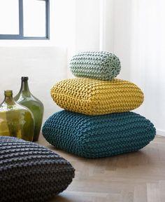 oversize crochet pillows