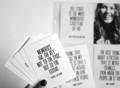 Free Download! Project Life pocket 3x4 photography quote cards from Persnickety Prints. Download and print.
