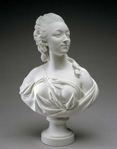 Bust of Madame du Barry. Soft-paste porcelain c.1771