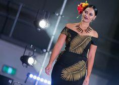 Samoan Designs, Polynesian Designs, Island Wear, Island Life, Luau Costume, Yellow Button Up Shirt, Samoan Dress, Fashion Wear, Fashion Outfits