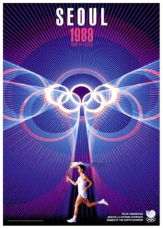 SEOUL 1988 OLYMPIC SUMMER GAMES Official Poster Reprint~ Available at www.sportsposterwarehouse.com