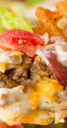 Seven-Layer Bacon Cheeseburger Dip