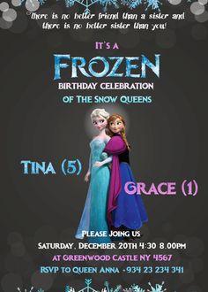 Frozen Birthday Invitation / Disney Frozen by JPEGgeneration