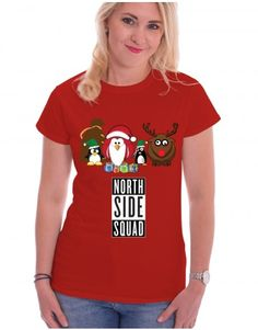 Christmas: North Side Squad  - buy yours now at www.firetrend.co.uk. #christmas #xmas #christmastree #santa #santasquad #northsidesquad #firetrend #christmastshirt Mens Christmas T Shirts, Christmas Jumpers, Jumper Designs, College Fashion, Neck T Shirt, Squad, Santa, Xmas, Hoodies