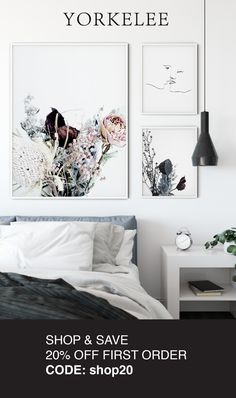 20% off your first order with Yorkelee Prints!  Shop & Save now. Code: shop20 Grey Bedroom Decor, Living Room Decor Cozy, Master Bedroom, Cheap Art Prints, Wall Art Prints, Space Interiors, Unique Wall Art, Home Decor Furniture, Painting Furniture