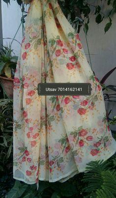 Saree#floral print#light weight# light yellow# whatsapp 7014162141