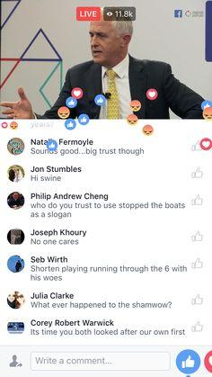 Australian Leaders Debate on Facebook live