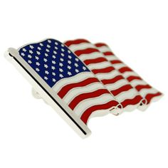 AMERICAN FLAG W// GOD BLESS AMERICA LIBERTY Friendship Flag Lapel Pin MADE IN USA
