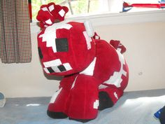 Minecraft Huge Mooshroom Plush 26 inches tall