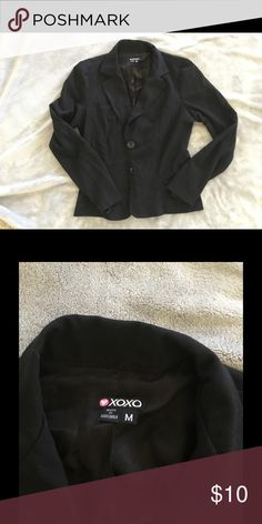 🌟 Black lightweight blazer One button closure no pockets XOXO Jackets & Coats Blazers