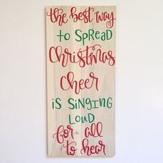 The Best Way to Spread Christmas Cheer ELF sign by FearfullyMadeCo