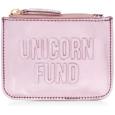 New Look Pink Unicorn Fund Zip Top Coin Purse ($7.33) ❤ liked on Polyvore featuring bags, wallets, shell pink, embossed wallet, coin purse wallets, coin pouch wallet, zip top bag and shell bag