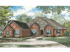 New American House Plan with 3624 Square Feet and 4 Bedrooms from Dream Home Source | House Plan Code DHSW64234