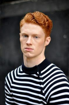 Ginger in stripes