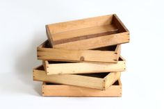Rustic Wooden Crate Vintage Fruit Box Tray by CrolAndCo on Etsy, $20.00