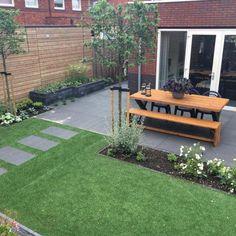 Garden Design - New ideas Back Gardens, Small Gardens, Outdoor Gardens, Backyard Patio Designs, Backyard Landscaping, Back Garden Design, Small Garden Landscape, Sloped Garden, Garden Makeover