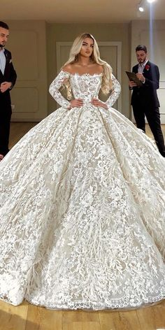best wedding dresses ball gown off the shoulder with long sleeves full lace vald. - best wedding dresses ball gown off the shoulder with long sleeves full lace valdrinsahitiofficial - Lace Beach Wedding Dress, Lace Wedding Dress With Sleeves, Princess Wedding Dresses, Modest Wedding Dresses, Bridal Dresses, Wedding Gowns, Lace Dress, Lace Sleeves, Wedding Bride