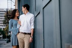 Floral Engagement in Downtown Pasadena with Ryan and Christina - Los Angeles Wedding Photographer