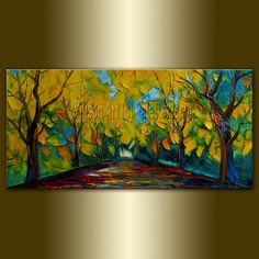 Original Landscape Painting Oil on Canvas Textured by willsonart, $115.00