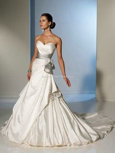 wedding dress - Style Sophia Tolli Pacifica sweetheart neckline Ball Gown Lace And Satin Crystal Flowers www.kalianas.com