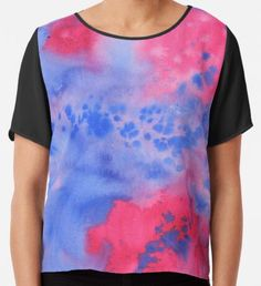 Wizard´s Apprenctice Watercolor Texture  Chiffon Top Purple Art, Yellow Art, Pink Art, Green Art, Blue Art, Watercolor Circles, Watercolor Texture, Watercolor Pattern, Paint Strokes