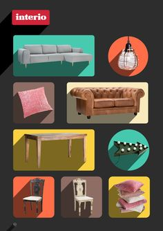 New layouts for brochure and website for Swiss furniture store Interio