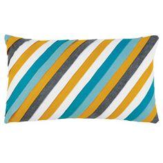 Pleated Pleats Ocean Diagonal Pillow EALEY001