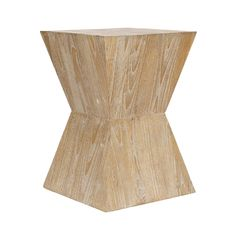 Striking and graphic, this Shott Side Table has a beautiful distressed oak finish and strong geometric profile. The side table is made of patterned sungkai wood, which has unique wood grain and pale co...  Find the Shott Side Table, as seen in the The Modern Pueblo Collection at http://dotandbo.com/collections/the-modern-pueblo?utm_source=pinterest&utm_medium=organic&db_sku=SAF0015
