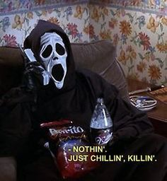 My Current October Mood. funny lol humor funny pictures funny memes funny pics funny images really funny pictures funny pictures and images Scary Movies, Horror Movies, Scary Movie Quotes, Halloween Movies, Funny Halloween, Happy Halloween, Spooky Halloween, Vintage Halloween, 90s Quotes