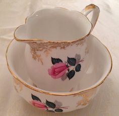 Royal standard sugar bowl and creamer