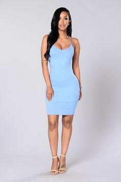 Think Of Me Dress - Blue
