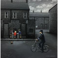 Leigh Lambert - Ello, Ello, Ello (Paper) Leigh Lambert, Children Games, Selling Art, City Life, Mother Of The Bride, Artworks, Bob, British, Street View