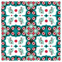 Pattern Design by illustrator, Helen Dardik (Canada). She does work for MudPuppy, Wallpaper companies, tv shows, etc... Her stuff is so playful and colorful.