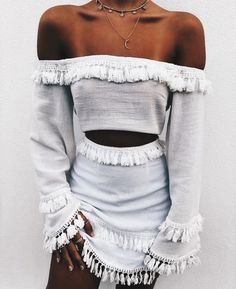 White two piece set.