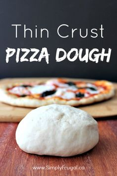 Thin Crust Pizza Dough Have you got a pizza night coming up this week? Do you need a new pizza dough recipe? You've got to try this Thin Crust Pizza dough recipe! This recipe is our go-to recipe when it's pizza night around these parts. Thin Crust Pizza, Pizza Pizza, Dough Pizza, Easy Pizza Dough Recipe, Italian Pizza Dough Recipe, Vegan Pizza, Pizza Party, Homemade Pickles, Pizza Recipes