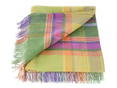 Avoca 'Dilly' Check Lambswool Throw