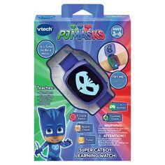 VTech PJ Masks Super Catboy Learning Watch 2 Days for sale online Timer Clock, Alarm Clock, Shape Games, Early Math, Pj Mask, Mini Games, Learning, Alien Figure, Clock Faces