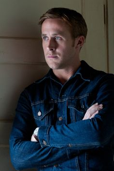 Ryan Gosling in Levi's Trucker @Levi Brown Brown's®--not gosling, just the shirt <3