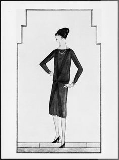 Chanel's Ford Dress 1926...the debut of the little black dress