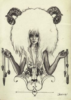 Crystal, shaman zodiac sign of Aries art print. For in depth info on Aries… Aries Art, Aries Sign, Zodiac Art, Aries Zodiac, Zodiac Signs, Aries Horoscope, Illustrations, Illustration Art, Widder Tattoos