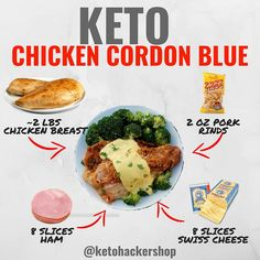 👈SWIPE 💡👨🍳Looking for easy Keto meal prep ideas? Check out these Keto recipes RP —————— 📝Keto Recipes include:… Ketogenic Recipes, Low Carb Recipes, Diet Recipes, Healthy Recipes, Cetogenic Diet, Low Carb Diet, Week Diet, Poulet Keto, Chicken Cordon Blue
