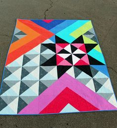 This is a PDF pattern for Be Seen. I made a series of quilts. All of these patterns have instructions for 2 sizes. and 72 All of these designs are Asymmetric, modern and easy to construct. Let me know if you have any questions. Barn Quilt Patterns, Patchwork Quilt Patterns, Modern Quilt Patterns, Patchwork Ideas, Modern Quilting, Triangle Quilt Pattern, Half Square Triangle Quilts, Square Quilt, Quilting Projects