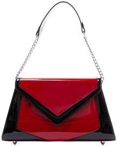 PINUP COUTURE CHEVRON PURSE RED - Sourpuss Clothing