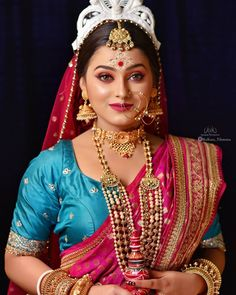 Photography Women, Beach Photography, Wedding Photography, Weeding Makeup, Bridal Makeup Images, Nose Ring Jewelry, Bengali Bridal Makeup, Indian Goddess, Bridal Gallery