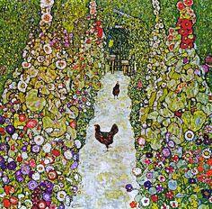 Gustav Klimt - Gartenweg mit Hühnern [1917] - Peter