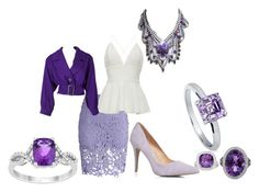 """purple"" by mimmiandkinkistatementjewelry ❤ liked on Polyvore featuring Chicwish, Dorothy Perkins, Yves Saint Laurent, BERRICLE and Asprey"