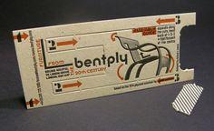 Bentply Móveis criativo negócio de design de cartão de 3 etapas que ajudam a projetar memorável Cartões de visita