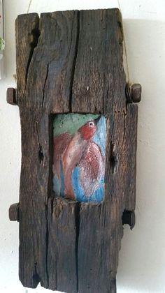 Bild auf Holz im Holzrahmen von J.A. Ziemer, Unikat