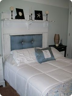 Attaching the Mantle Headboard   Headboard Ideas   Pinterest     Attaching the Mantle Headboard   Headboard Ideas   Pinterest   Mantle  headboard  Mantle and Bedrooms