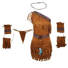 6 Pieces Women's Suede Indian Costume Native America Pocahontas Fancy Dress Pocahontas Costume, Fox Fancy Dress, Adult Costumes, Costumes For Women, Indian Princess Costume, Jungle Outfit, Jungle Costume, Indian Girls, Costume Ideas